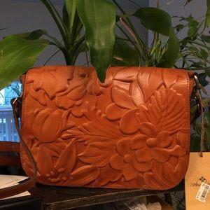Patricia Nash Mondovi Debossed Leather Satchel